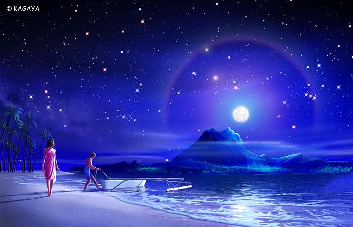 наблюдать свечение луны